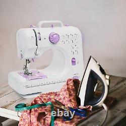 12 Stitches 2 Speed Heavy Duty Sew Light Weight Portable Machine with Foot Pedal