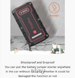 2500A Car Jump Starter Battery Heavy Duty Booster Power Pack TrekPow 12V IP68 UK