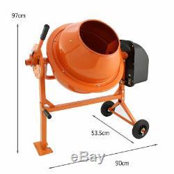 250W heavy duty motar Machine Electric Cement 70L portable concrete mixer New u