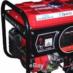 2800W Electric Start 6.5HP Heavy Duty 4 Stroke Petrol Generator'XSports Pro