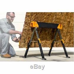 2 Pack Toughbuilt 42 inch Steel Saw Horse Portable Folding Pair Heavy Duty C650