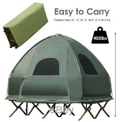 2-Person Compact Portable Pop-Up Tent Air Mattress and Sleeping Bag Camping Bed