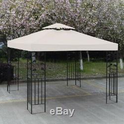 2-Tier Replacement Patio Gazebo Canopy Cover 3m x 3m Outdoor Garden Shelter Tent