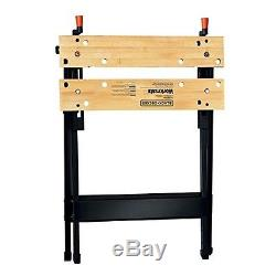 350-Pound Capacity Portable Work Bench Fold Flat Heavy-duty Workmate Workstation