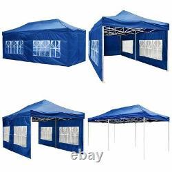 3M X 3M Heavy Duty Pop-Up Gazebo Waterproof Outdoor Garden Party Tent with 4 Sides