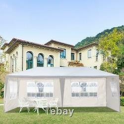 3M x 6M Heavy Duty Gazebo with Sides Marquee Canopy Waterproof Party Tent White UK