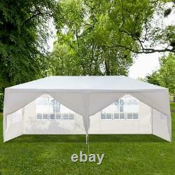3M x 6M Outdoor Gazebo Party Tent with 6 Side Walls Wedding Canopy Cater Events