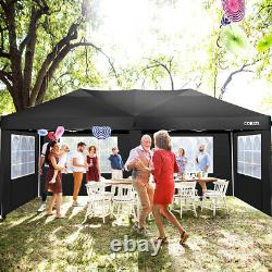 3Mx6M Gazebo Marquee Canopy Heavy Duty with Sides Waterproof Wedding Party Tent UK