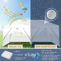 3Mx6M Heavy Duty Gazebo Waterproof Marquee Canopy Garden Party Patio Tent White
