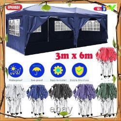 3Mx6M Heavy Duty Pop Up Gazebo Waterproof Marquee Canopy Garden Party Tent