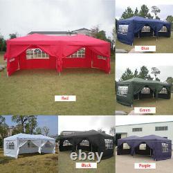 3Mx6M Heavy Duty Pop Up Gazebo Waterproof Marquee Canopy Garden Party Tent-UK