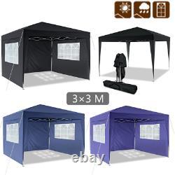 3X3M Heavy Duty Gazebo Waterproof Marquee Canopy Outdoor Garden Party Tent UK