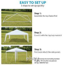 3X3/6/9M Garden Gazebo Marquee Party Tent Wedding Heavy Duty Outdoor 3 Sizes UK