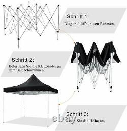 3X3m Gazebo Pop-up Waterproof Garden Marquee Canopy Wedding Party Tent Outdoor