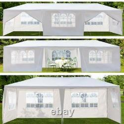 3X6M 3X9M Garden Gazebo Marquee Canopy Party Tent Canopy Patio White withSidewall