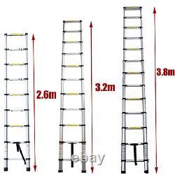 3.2m 6m Portable Heavy Duty Multi-Purpose Aluminium Telescopic Ladder Extendable