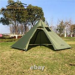 3-4 Person Teepee Pyramid Cone Outdoor Tent Waterproof Light Portable Camping