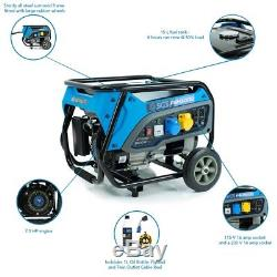 3.75 kVA Heavy Duty Portable Petrol Generator With Wheel Kit, Oil, Flylead and T