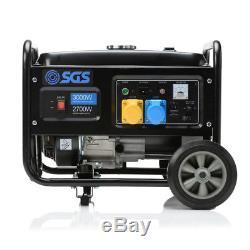 3.75 kVA Heavy Duty Portable Petrol Generator With Wheel Kit, Oil and Flylead