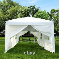 3 x 6m Garden Heavy Duty Gazebo Marquee Party Tent Canopy White
