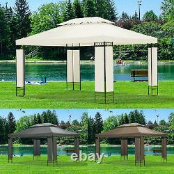 3m x 4m Garden Gazebo Outdoor Party Tent Marquee Canopy Pavilion Patio 3 Colours