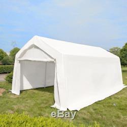3m x 6m White Heavy Portable Garage Tent Shelter Carport Canopy Steel Frame UK