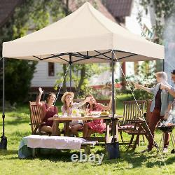 3x3M Commercial Pop-up Canopy Waterproof Gazebo Garden Tent /Carry Bag&Sand Bags