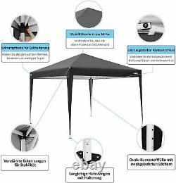 3x3M Gazebo Marquee Canopy withSides Heavy Duty Waterproof Garden Patio Party Tent
