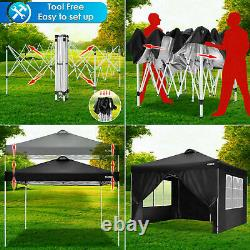 3x3M Gazebo Pop Up Tent Canopy Outdoor Wedding Marquee Garden Party with4 Sides UK