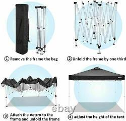 3x3M Gazebo Pop Up Tent Marquee Canopy Outdoor Wedding Garden Party with4 Sandbag