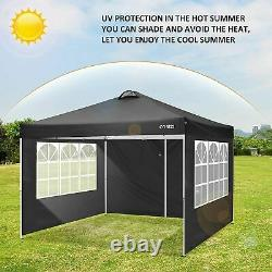 3x3M Gazebo Pop Up Tent with4Sides Wall Marquee Market Garden Party Canopy Outdoor