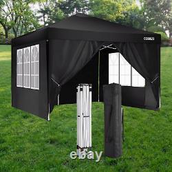3x3M Gazebo Pop-up Canopy Marquee Waterproof Garden Marketstal Tent with4 Sides UK