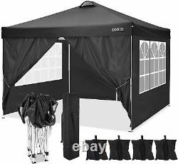 3x3M Heavy Duty Gazebo Canopy Waterproof Marque Garden Patio Party Tent with VENT