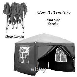3x3M Heavy Duty Gazebo Marquee Pop-up Waterproof Garden Party Tent With Sandbag