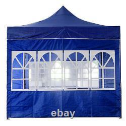3x3M Heavy Duty Gazebo Marquee Pop-up Waterproof Garden Party Tent withSides Blue