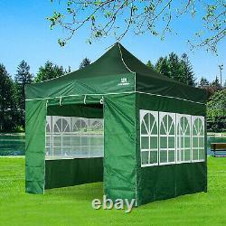 3x3M Heavy Duty Gazebo Marquee Pop-up Waterproof Garden Party Tent withSides Green