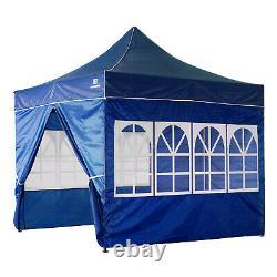 3x3M Heavy Duty Gazebo Pop-up Marquee Canopy Waterproof Garden Party Tent Blue
