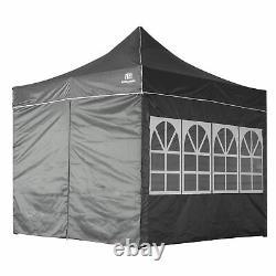 3x3M Heavy Duty Gazebo Pop-up Marquee Canopy Waterproof Garden Party Tent Grey