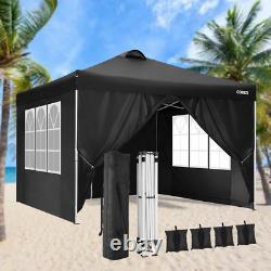3x3M Heavy Duty Gazebo Pop-up Waterproof Marquee Canopy Garden Patio Party Tent