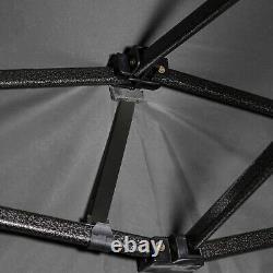 3x3M Heavy Duty Gazebo Pop-up Waterproof Marquee Commercial Grade Tent Grey