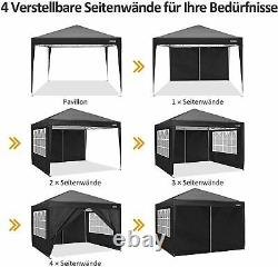 3x3M Heavy Duty Gazebo Waterproof Marquee Canopy Commercial Garden Party Tent UK