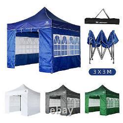 3x3M Heavy Duty Pop Up Gazebo Marquee Canopy Waterproof Commercial Market Stall