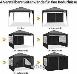 3x3M Waterproof Gazebo Pop Up Tent Marquee Canopy Outdoor Wedding Garden Party