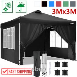 3x3m Gazebo Party Tent Marquee Waterproof Outdoor Garden Canopy Patio Wind Sides