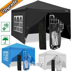 3x3m Pop Up Gazebo Waterproof Marquee Canopy Outdoor Garden Party Wedding Tent