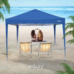 3x3m Pop up Gazebo Tent Commercial Waterproof Garden Party Tent With 4 Sides Blue