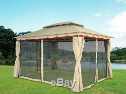 3x4M Deluxe Metal Pavilion Gazebo Awning Canopy Sun Shade Party Tent Marquee