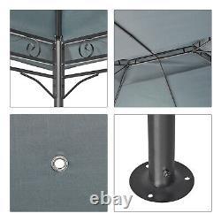 3x4M Garden Metal Gazebo Patio Party Tent Marquee Canopy Pavilion Sidewalls Grey
