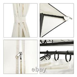 3x4M Garden Metal Gazebo Patio Party Tent Marquee Canopy Shelter Pavilion Beige