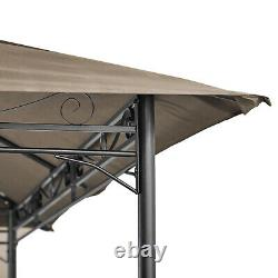 3x4M Garden Metal Gazebo Patio Party Tent Marquee Canopy Shelter Pavilion Brown
